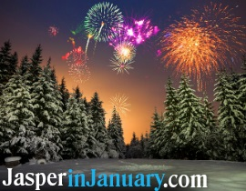 ATCO Walk of Lights and Fireworks - Jasper in January 2020