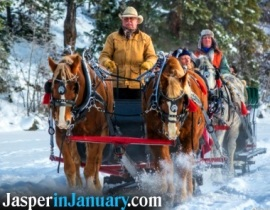 Pyramid Lake Sleigh Rides - Jasper in January 2020