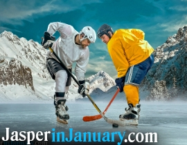 Jasper National Park Pond Hockey Tournament - Jasper in January 2020